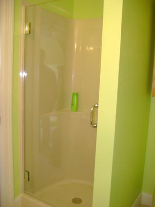 Modern shower glass door