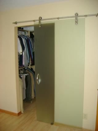 Glass door for closet, sliding door