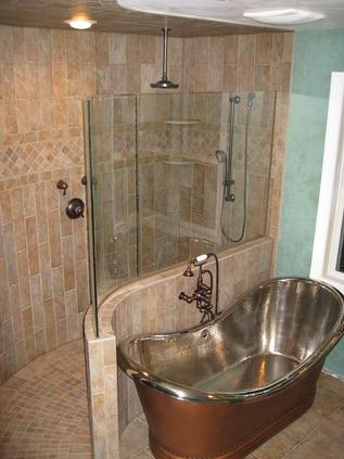 Custom glass shower