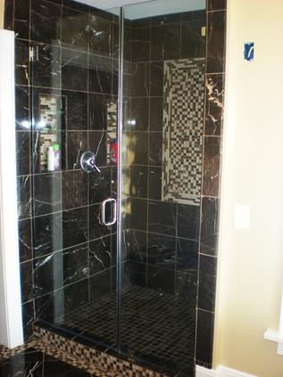 Glass modern shower door
