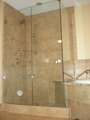 Showerguard glass shower